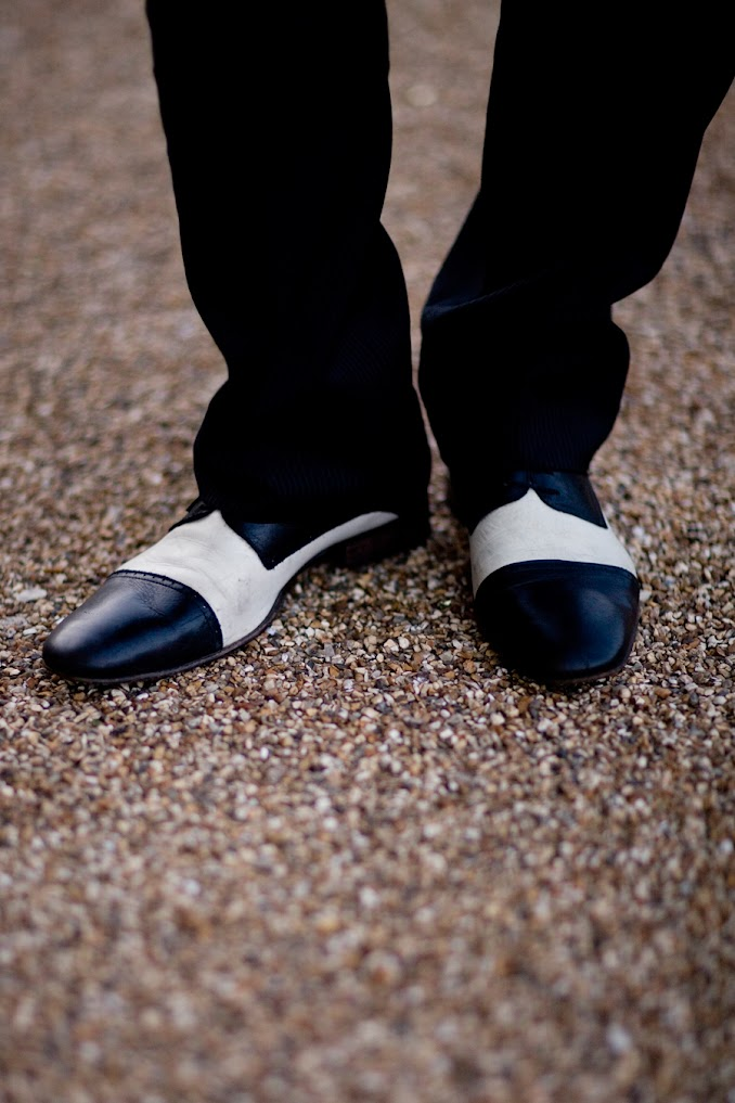 black and white men's wedding shoes
