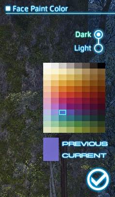 FFXIV Face Paint Color