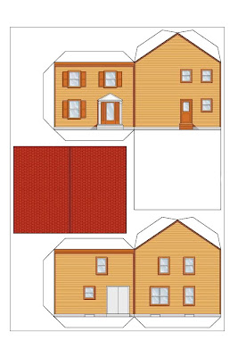 Giochi e disegni da colorare case di carta case da for Disegni da stampare colorare e ritagliare