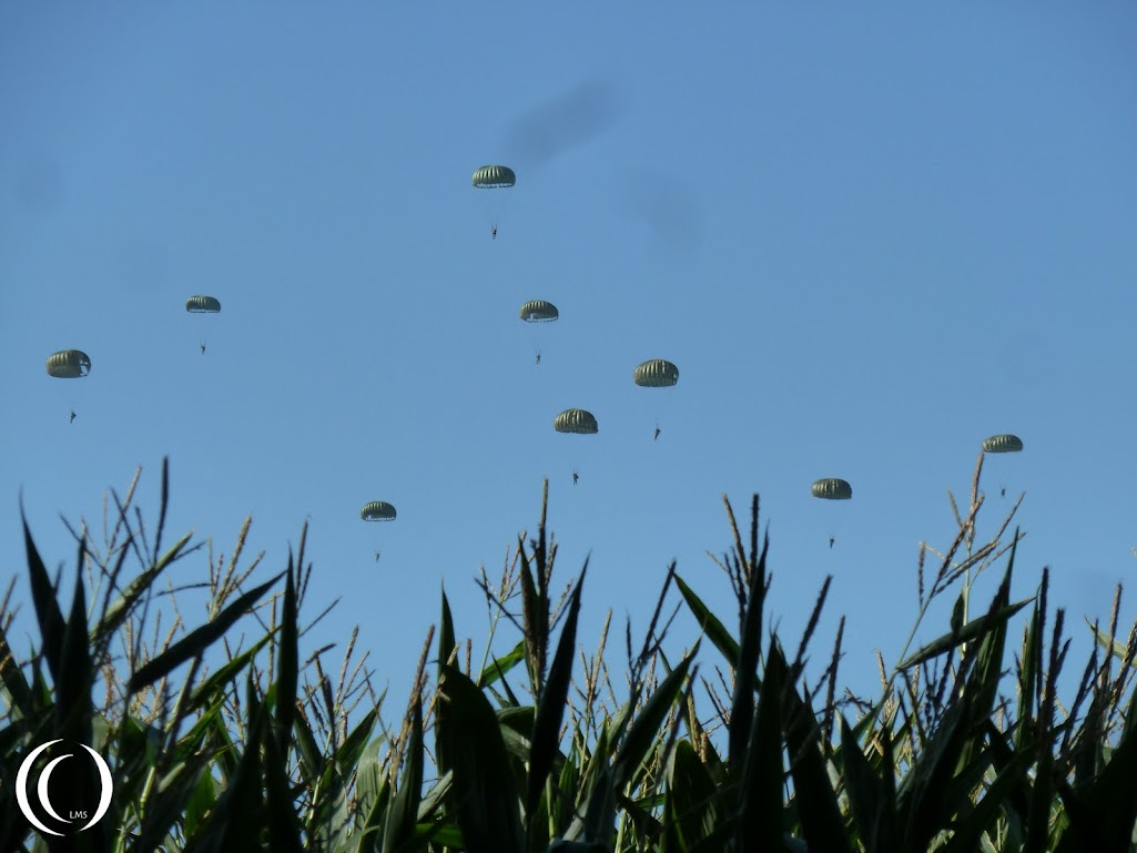 101st Airborne division remembrance Market Garden  jumps at Son in the Netherlands