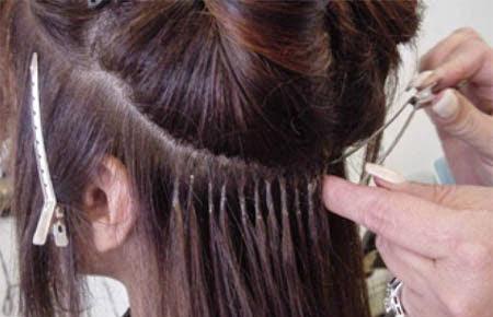 Menyambung Rambut dengan Rambut Palsu