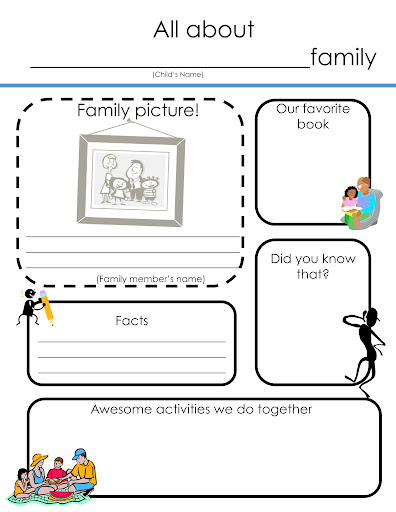 All About Me Template All about me book templates