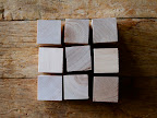 Start with nine 1 1/2-inch wooden cubes (from http://www.craftparts.com).