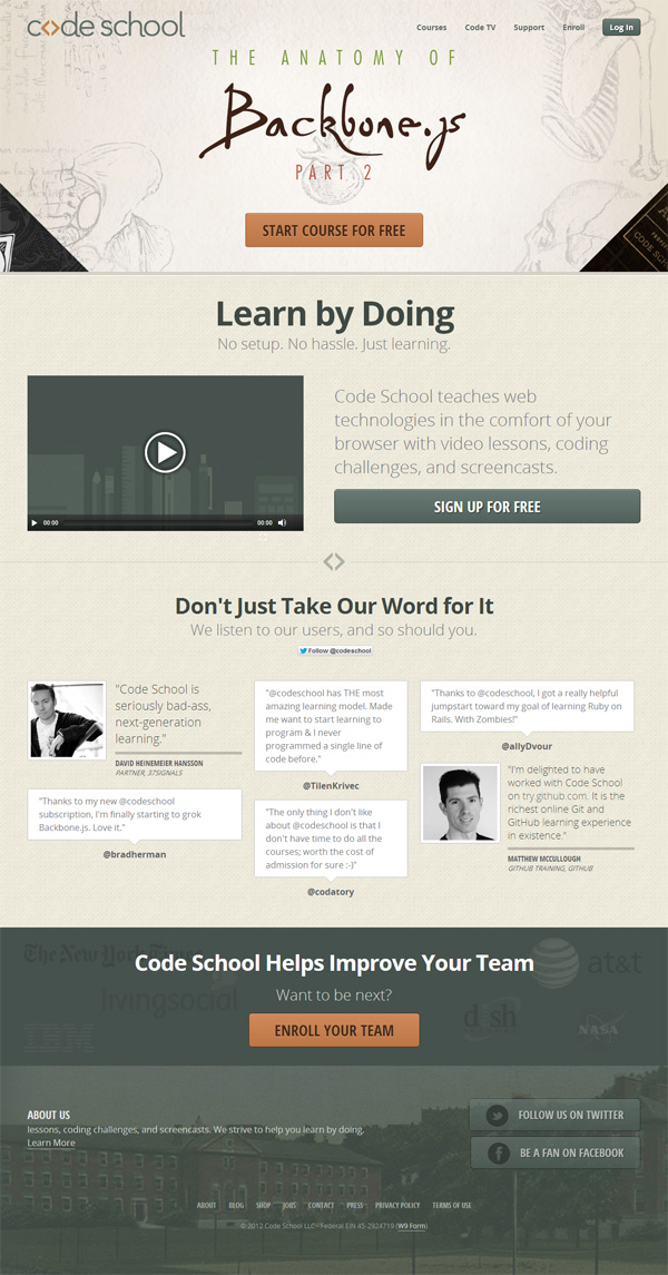 Fundamentals of converting a landing page