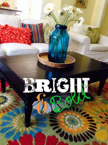 Bright and bold family room, what colors mean, orange family room