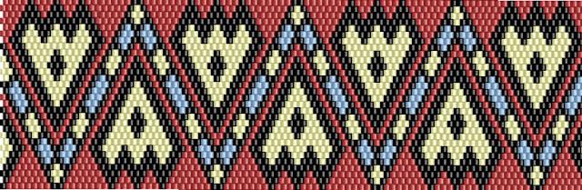 схема бисероплетение кирпичное плетение браслет