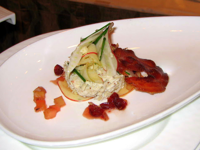 Crab salad with Pancetta & Apples Iron Chef Ritz Carlton Susan Maria Leach