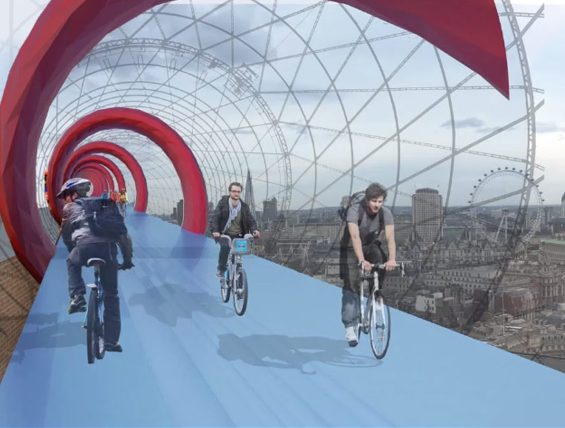 60 A4, Città di Westminster, Londra Wc2N, Regno Unito: Skycycle by Exterior Architecture