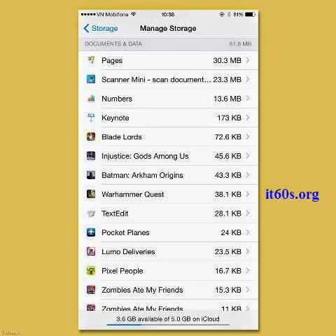 Cách giải phóng dung lượng cho tài khoản iCloud đơn giản 3