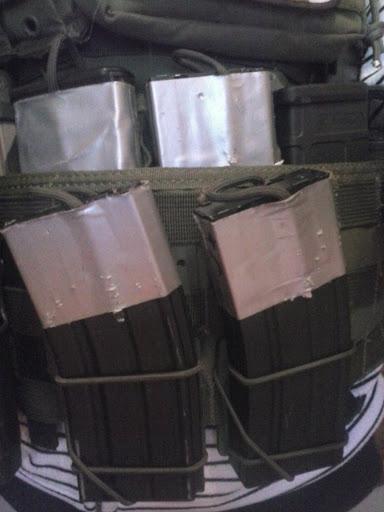 Pouch molle rápido para cargadores m4 casero CAM00190