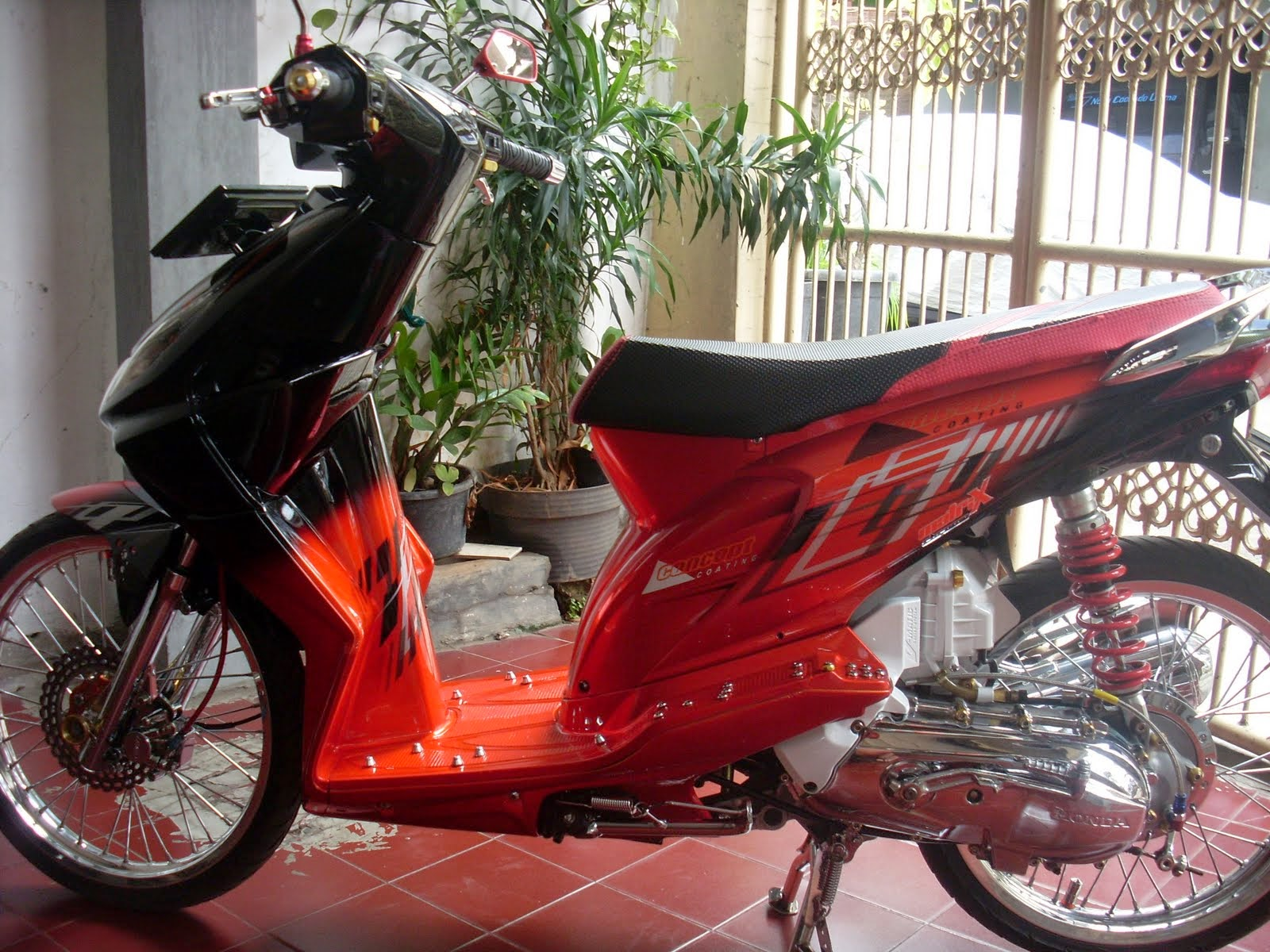 110 Modifikasi Skotlet Motor Beat Hitam Modifikasi Motor Beat Terbaru