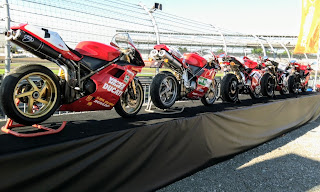 Ducati motorcycle display set up
