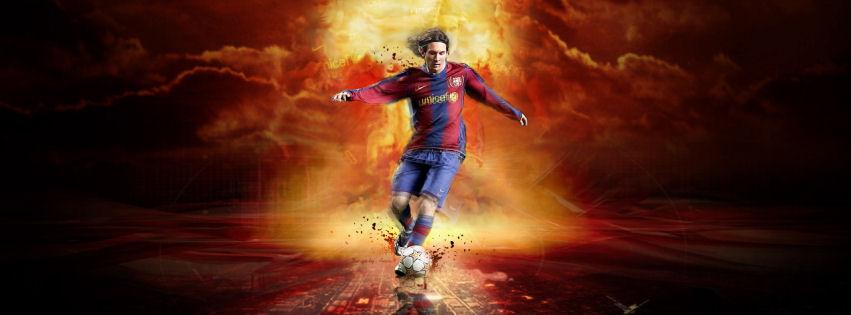 Lionel Messi 2013 facebook cover
