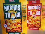 Nachos to Go packaging in mild and hot varieties