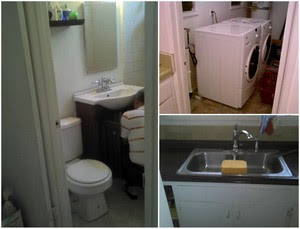 Desktop4 Angeleno Heights apartment includes 2 bedrooms, kitchen sponge and man underneath bathroom sink  photo