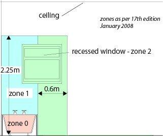 New Modern Brushed Chrome 33W Bathroom Flush Ceiling Light Zone 2 3  EBay