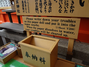 A sign describing a method to dissolve your troubles