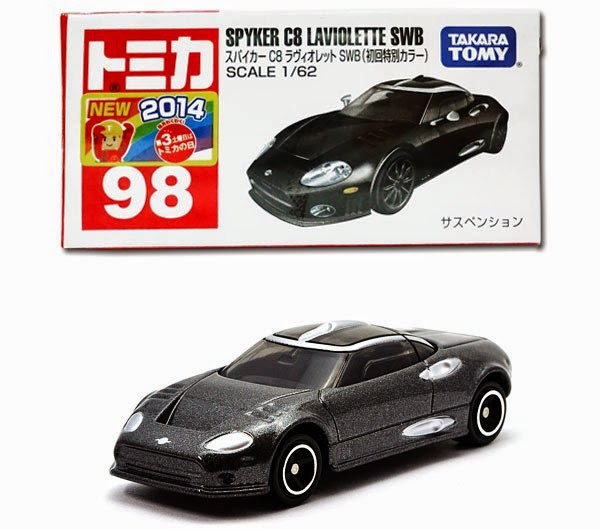 Tomica 98 Spyker C8 Laviolette Special là mẫu xe Tomica mới của Takara Tomy