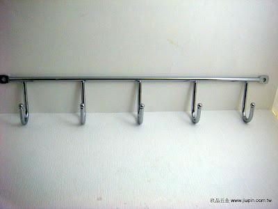 裝潢五金型號:JS702-5電鍍五聯鉤規格:35.5CM 顏色:銀色玖品五金