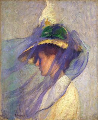 TARBELL Edmund The blue veil 1899