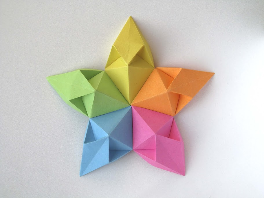 Origami modulare foto Stella aquilone - Kite Star by Francesco Guarnieri