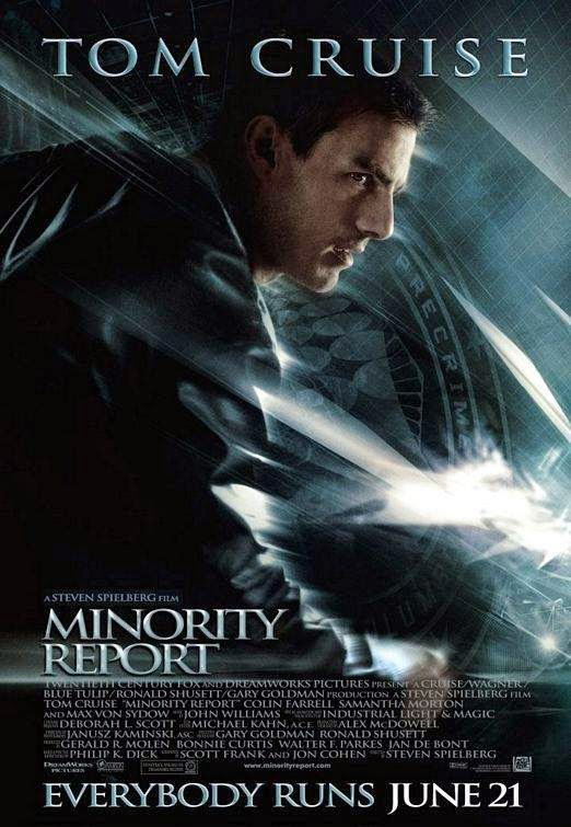 Poster Of Minority Report (2002) Full Movie Hindi Dubbed Free Download Watch Online At Alldownloads4u.Com