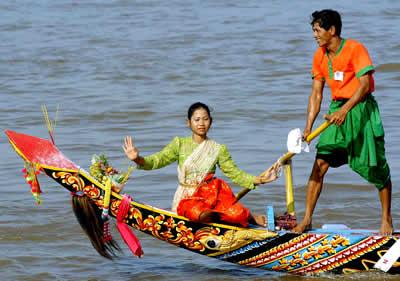 Cambodia river festival