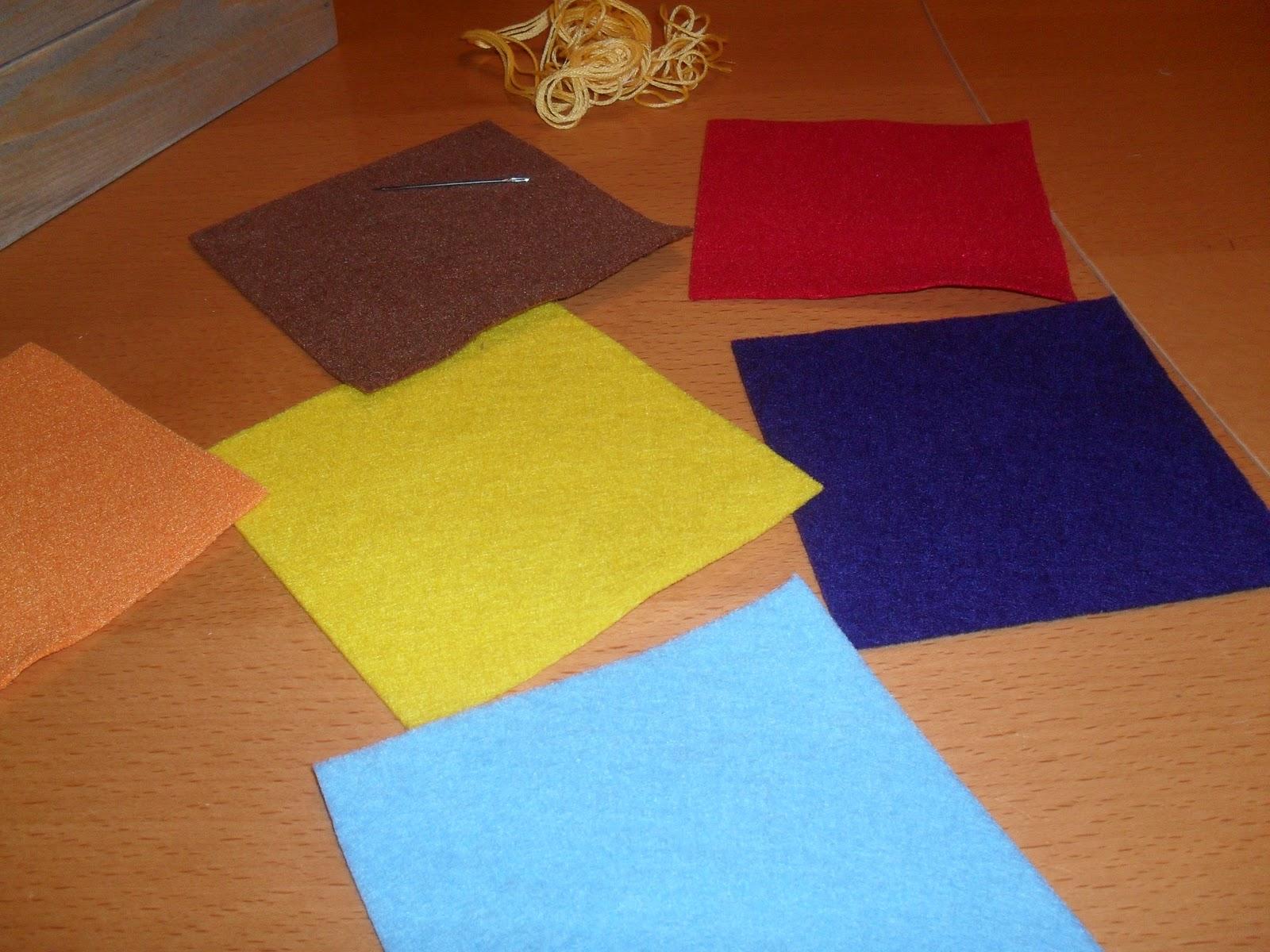 dd0631fd48d613 Ho preparato 6 quadrati di 10 cm. per lato e li ho cuciti assieme .
