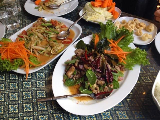 Noah 1st public transport tour Lunch at Thai Isan