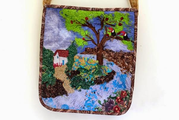 Bolsa montagem de paisagem patchwork