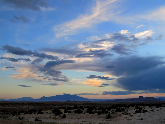 Henry Mountains and Wild Horse Butte on the southern horizon