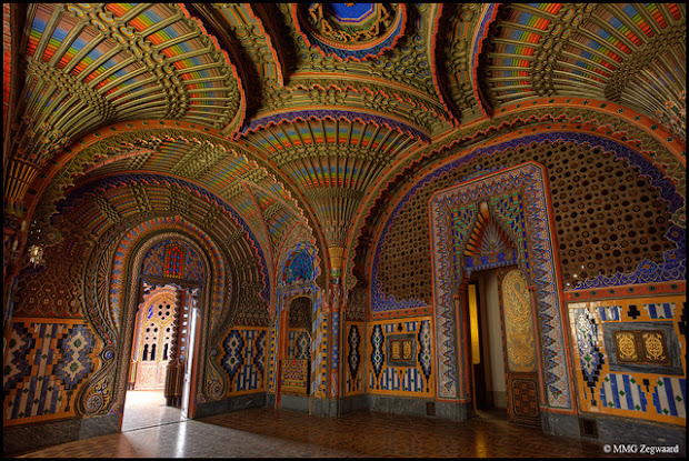 The Peacock Room at Sammezzano Castle in Italy