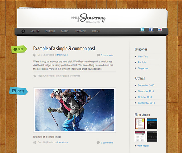 My Journey WordPress Theme for Microblogging