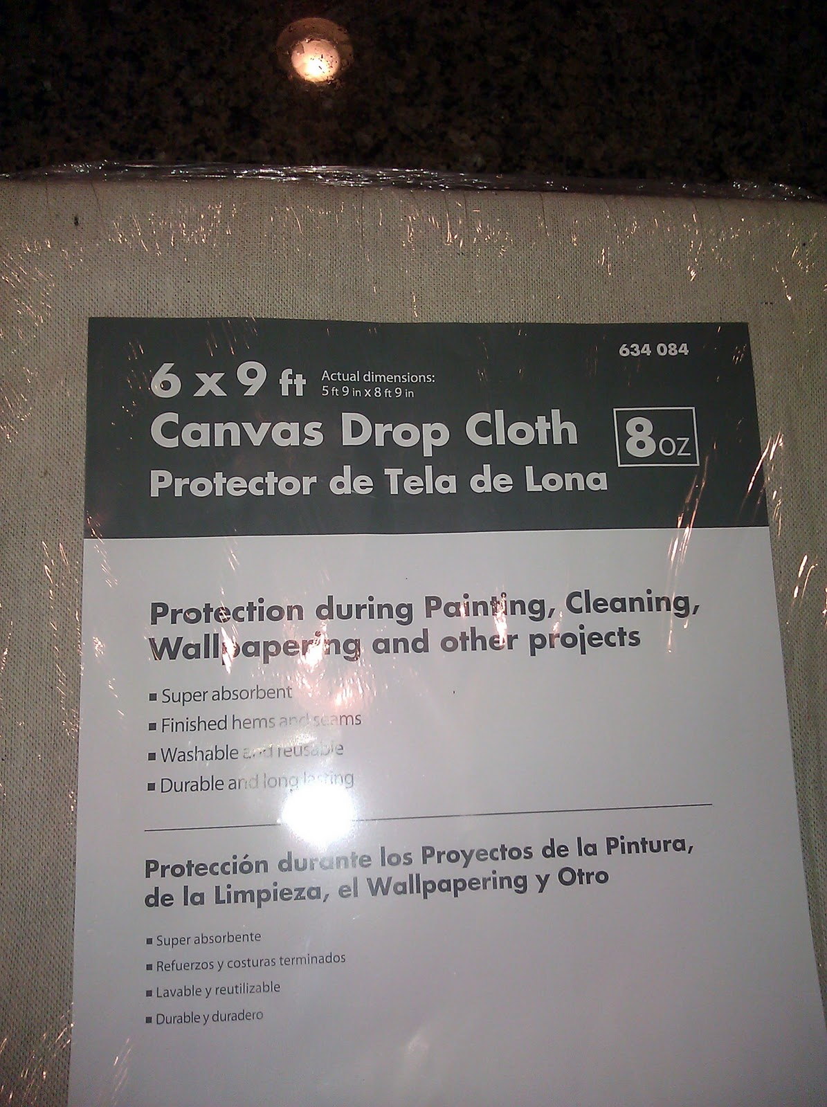 Drop clothes home depot best home design and decorating ideas - I Ll Be The First To Admit That I Was Very Skeptical When I First Picked It Up And Thought Miss Mustard Seed Must Have A Much Better Drop Cloth Variety At