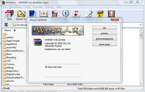 WinRAR 4.0 Final