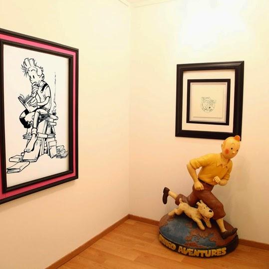Interior de la madrileña Galería El Arte del Cómic