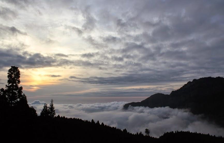 嘉義阿里山夕陽-2