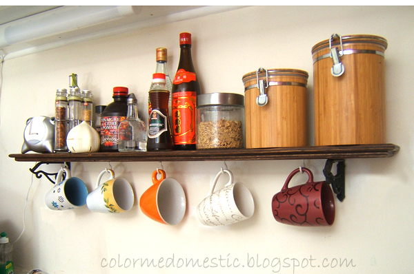 Color Me Domestic Kitchen Mug Shelf