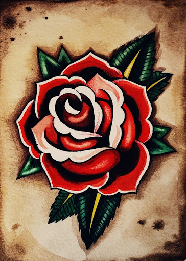 red roses tattoos