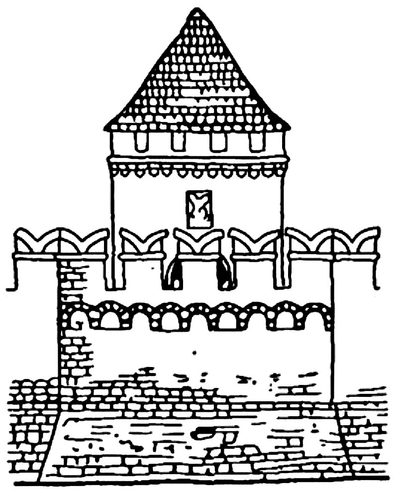 Тульский кремль раскраска распечатать