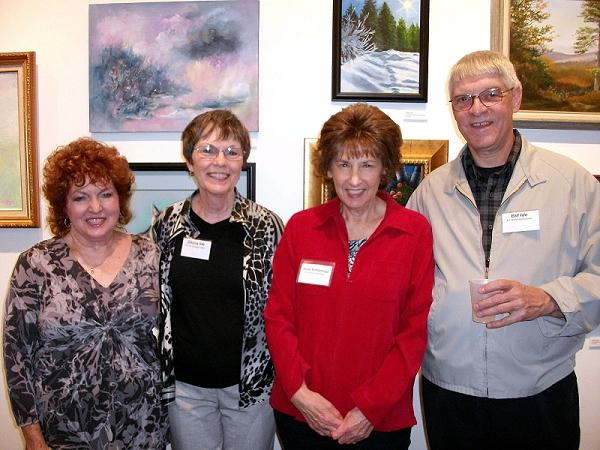 A few of the Art World Association Members at the opening reception