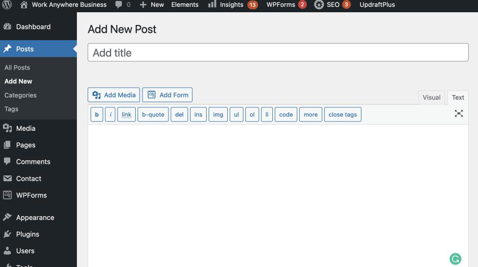 Image of what WordPress looks like