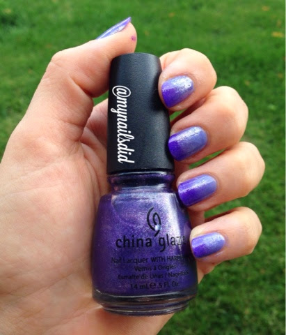 purple ombre gradient manicure