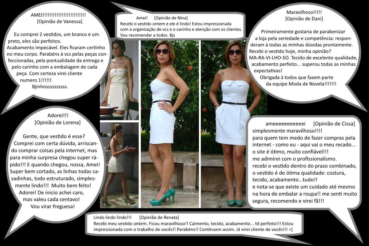 Opiniões das compradores do minivestido moda de novela estilo renatinha