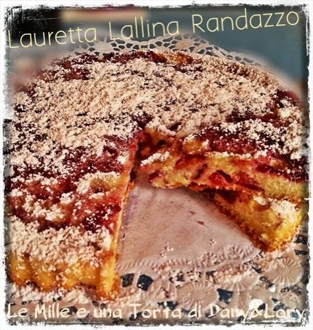 torta sofficissima con ciliegie e marmellata di mirtilli