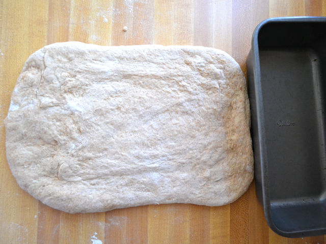 dough shaped into rectangle