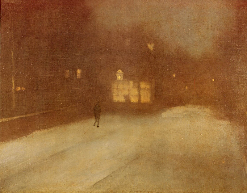 James Abbott McNeill Whistler - Grey and Gold - Snow in Chelsea