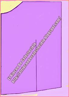 Patrón manga murciélago rectángular escote bandeja