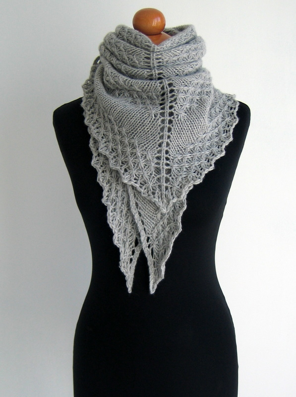 Silver Lining Knits: Winter Sparkles - textured shawl
