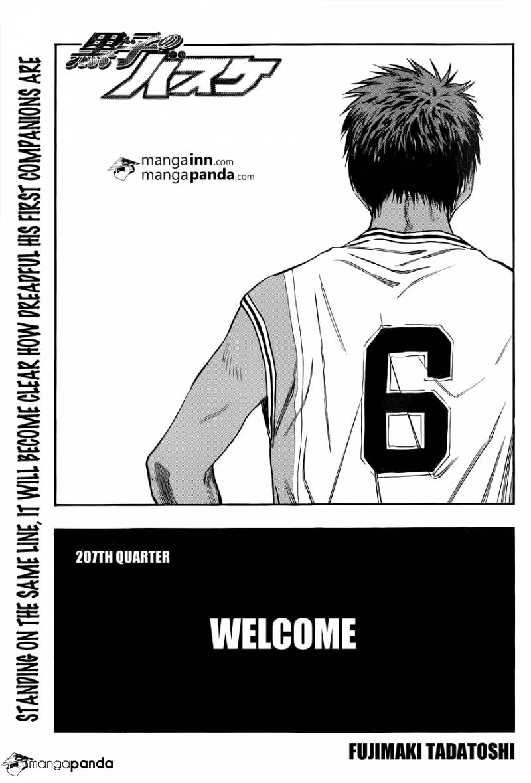 Kuroko no Basket Manga Chapter 207 - Image 01